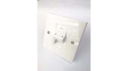 RJ45 1 WAY R/A FACE PLATE