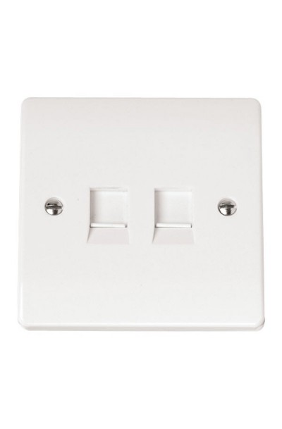 RJ45 2 WAY FACE PLATE