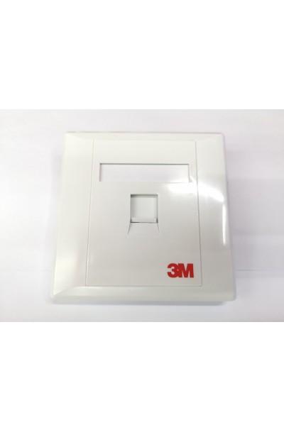 3M RJ45 1 WAY FACE PLATE