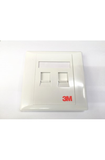 3M RJ45 2 WAY FACE PLATE