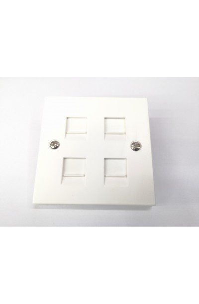 RJ45 4 WAY FACE PLATE