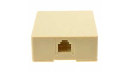 RJ11 6P4C Surface Mount Box with Screw Terminals