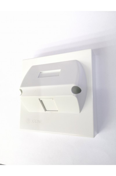 KRONE RJ45 1 WAY ANGLED FACE PLATE