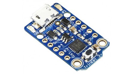 Adafruit Trinket - Mini Microcontroller - 3.3V Logic - MicroUSB