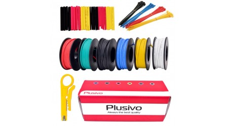22AWG 600V Tinted Stranded Silicone Wire Kit-6 Colors