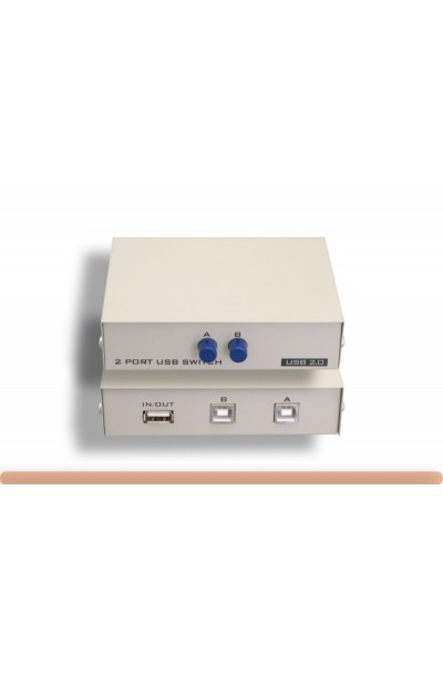 2 Port Manual USB Data Switch Box, 1A to 2B Type