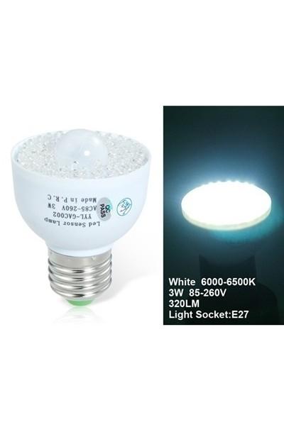 YYL-GAC002 E27 3W Human Body Sensor LED Energy Saving Lamp Bulb