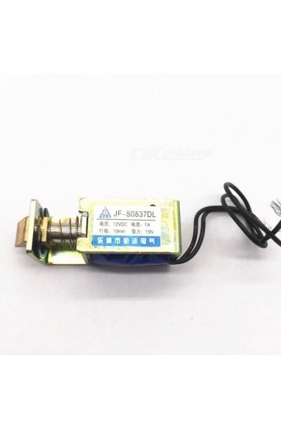 JF-S0837DL 12VDC 1A 10mm 15N Pull Solenoid