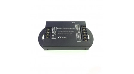 RGB High Speed Power Amplifier 24A Data Signal Repeater 3CH Channels For 5050 LED Lights Strip