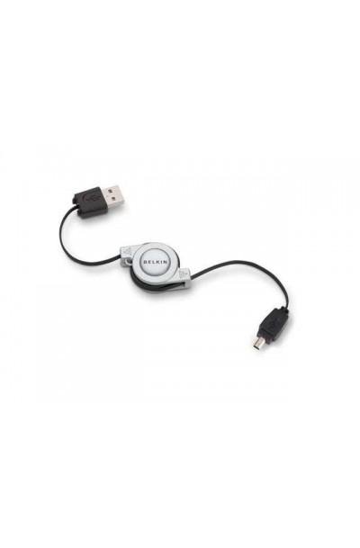 BELKIN F3U139V03-RTC 2-Tone 4-Pin Mini-B Retractable USB Cable