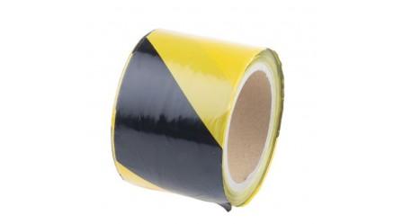 Barricade tape,Black/Yellow, 75mmx100m