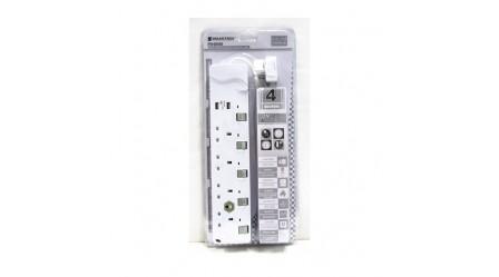SOUNDTECH 4 WAY EXTENSION SOCKET WITH 2 PORT USB SOCKET