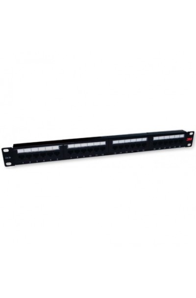 3M Volition Cat.5e 110 Patch Panel, 24-Ports, 1U