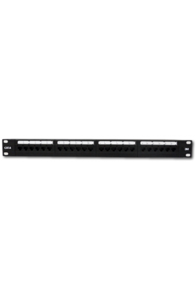 3M Volition Cat.6 110 Patch Panel, 24-Ports, 1U