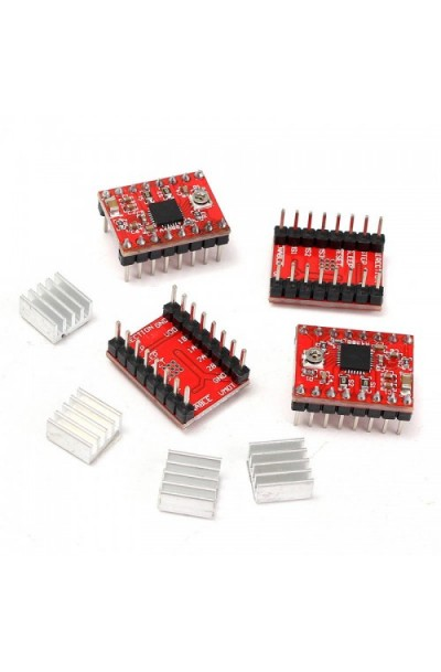 A4988 Reprap Stepper Driver with Heat Sink - Pack of 4