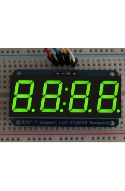 "0.56"" 4-DIGIT 7-SEGMENT DISPLAY W/12C BACKPACK (GREEN)"