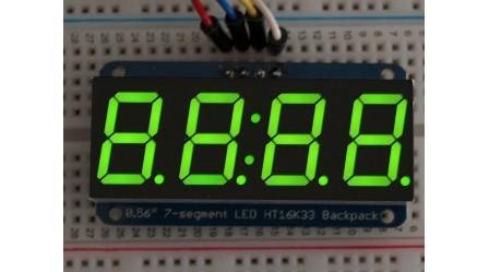 "0.56"" 4-DIGIT 7-SEGMENT DISPLAY W/12C BACKPACK (GREEN)"