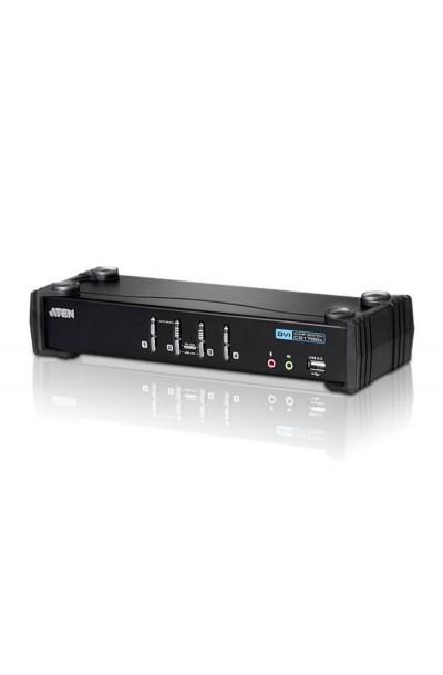 ATEN CS1764A 4-Port USB DVI/Audio KVMP™ Switch