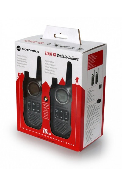 Motorola Consumer Two-Way Radio: TLKR T8 (10 Km Range - Twin Pack with Ear Phone)