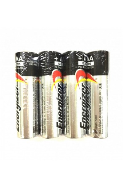 Energizer AA size Alkaline Batteries 4PCS Pack - Made in Singapore