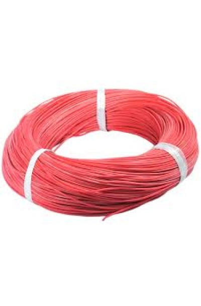 AWG24 Silicone Wire 305 Meter Per Roll - Red