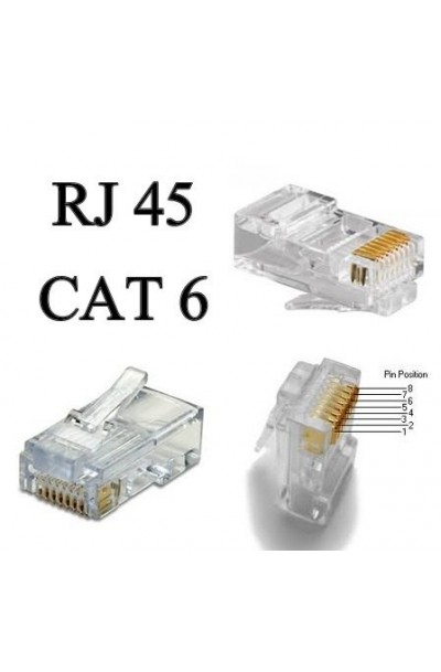 RJ45 CAT 6 Unshielded Plug