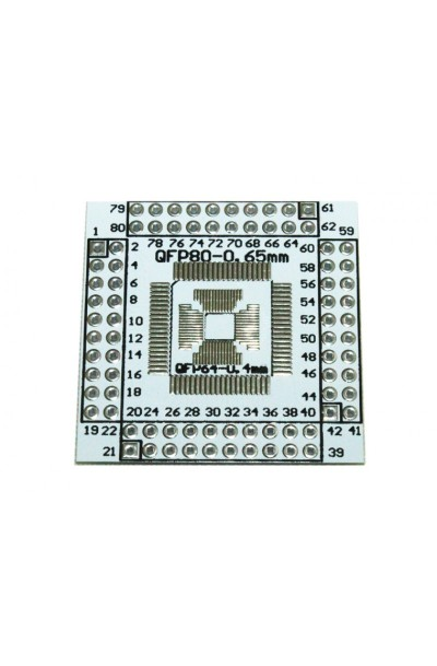 QFN/QFP/TQFP/LQFP 16-80 to DIP Adapter