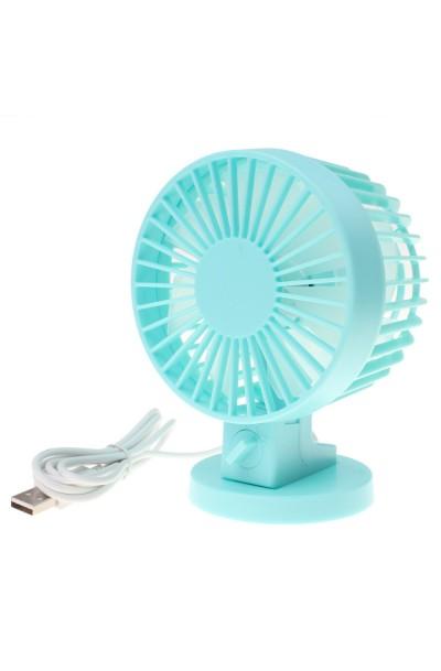 Portable Ultra-Quiet USB Powered 2-Mode Speed Adjustable Double Blades Mini Desk Fan Cooling Fan