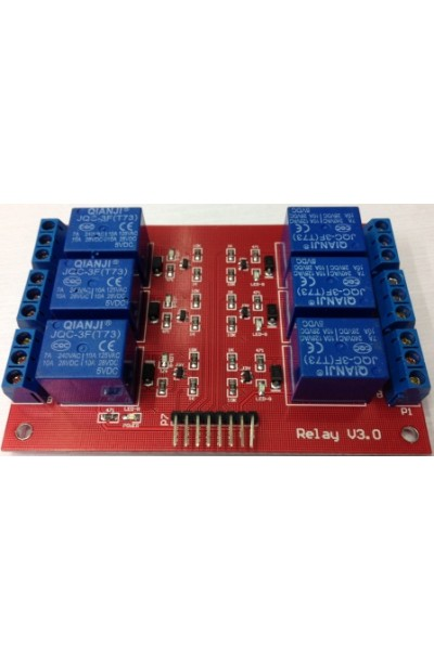 6-Channel Relay Shield Module for Arduino (Works with Official Arduino Boards)