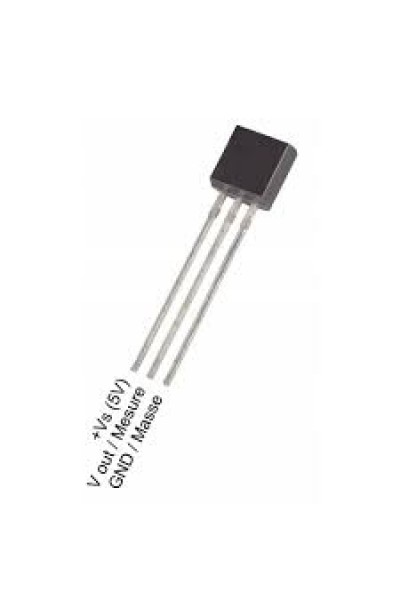LM35 Temperature Sensor IC, Voltage, ± 0.4°C, +2 °C, +100 °C, TO-92, 3 Pins