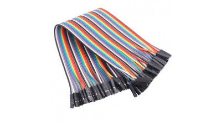 2.54mm Pitch 40 Pin 40 Way F/F Connector Rainbow Ribbon Jumper Cable Wires 30cm