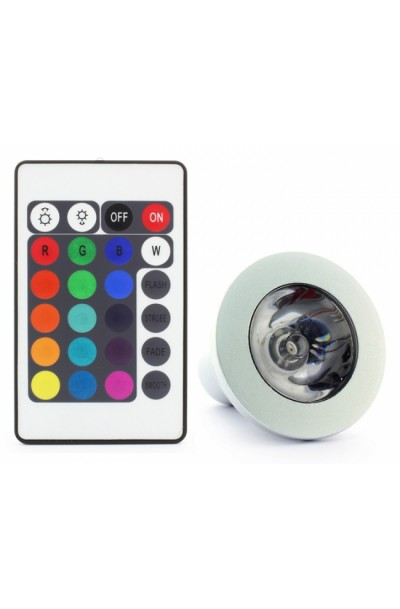 E27 9W Remote Control Color Changing LED Light Bulb RGB Color Lamp