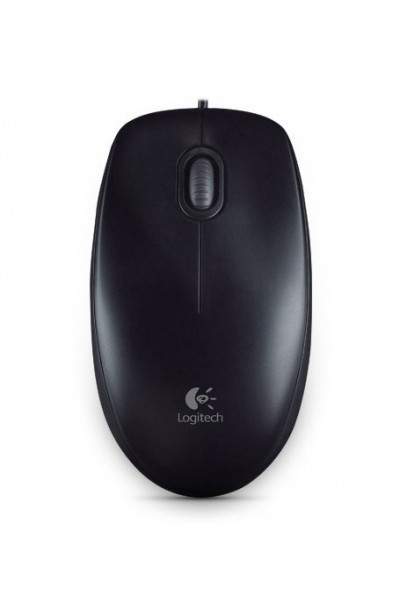 Logitech M100R Wired Usb Mouse Dark Black