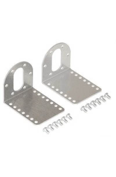 Pololu Stamped Aluminum L-Bracket Pair for 37D mm Metal Gearmotors