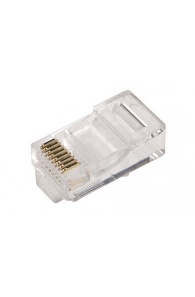 RJ45 Connector Plug, Unshielded, Straight (8P8C)
