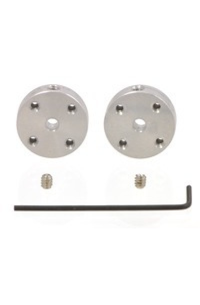 Pololu Universal Aluminum Mounting Hub for 3mm Shaft, #2-56 Holes (2-Pack)