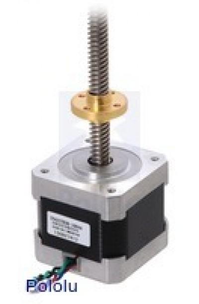 Stepper Motor with 28cm Lead Screw: Bipolar, 200 Steps/Rev, 42×38mm, 2.8V, 1.7 A/Phase