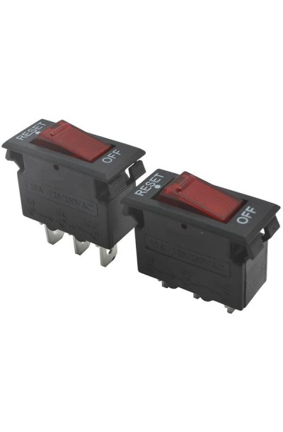 Mini rocker switch built-in circuit breaker - 4A 250V