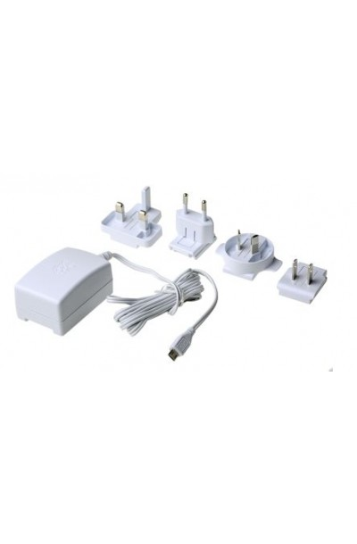 Official Raspberry Pi International PSU with UK, Euro, US and Aus Plugs