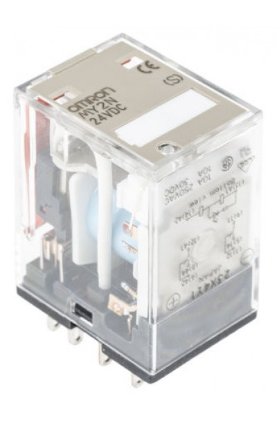 Omron DPDT Plug In Non-Latching Relay, 24V dc Coil, 10 A