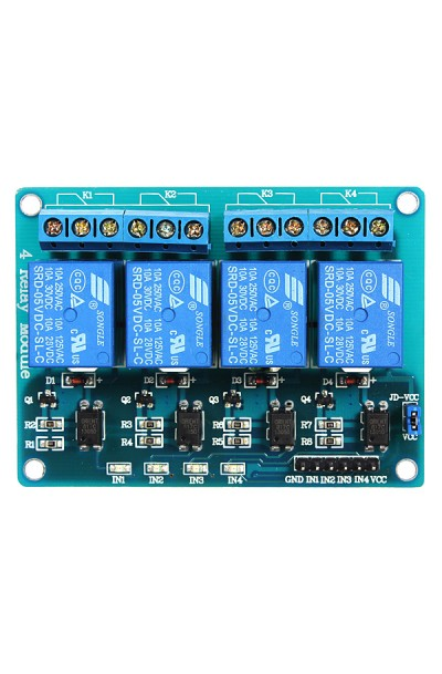 4-Channel 12V Relay Module for PIC ARM AVR DSP Arduino MSP430 TTL Logic