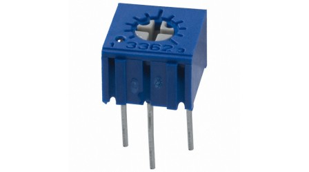 3362 0.5W, PC Pins Through Hole Trimmer Potentiometer Cermet 1 Turn Top Adjustment