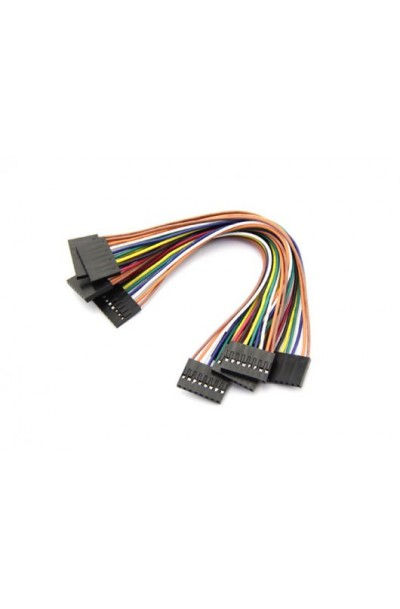 8 Pin Dual-female Jumper Wire--300mm 10pcs pack