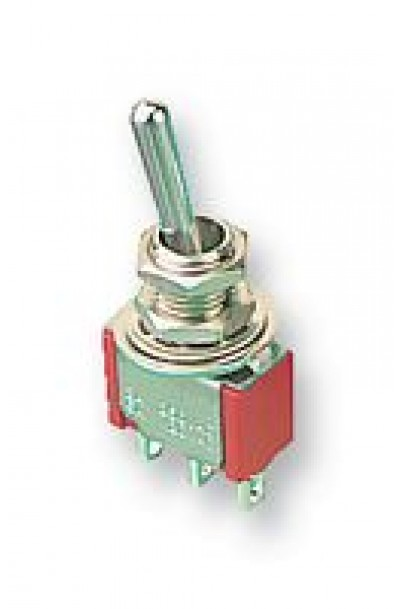 3 PIN MOMENTARY TOGGLE  SWITCH, SPDT, BIASED
