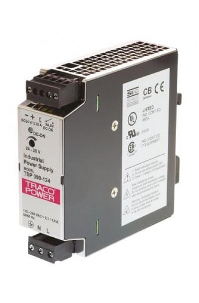 Switch Mode, 3.75A DIN Rail Panel Mount Power Supply, 24V dc to 28V dc