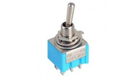 Miniature Toggle Switch DPDT 6 pins 3 positions ON-OFF-ON model MTS-203
