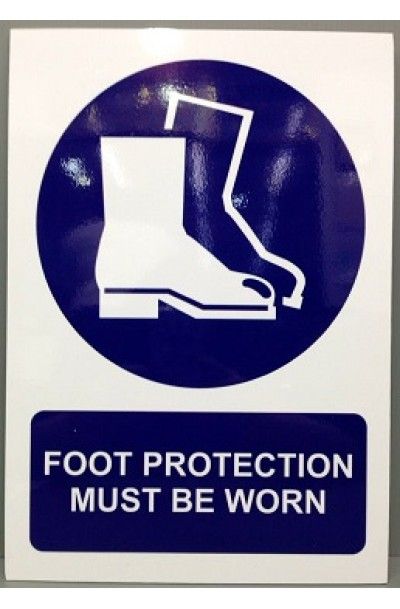 Foot protection must be worn sign (A3)