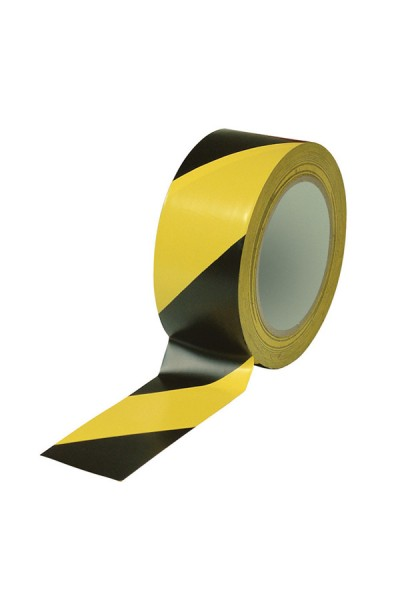 "2"" BLACK & YELLOW PVC FLOOR MARKING TAPE"