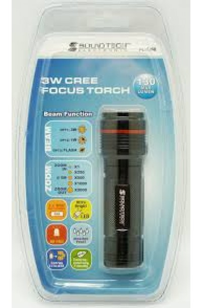 SOUNDTECH CREE TORCHLIGHT 3W W/ FOCUS AND FLASH FL-1350