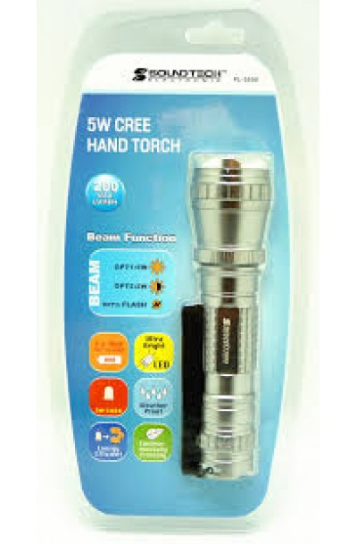 SOUNDTEOH FL-5550 5W CREE 4 MODES LED TORCHLIGHT